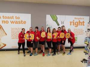Shoppers raise a trolley-load of cash for local charity