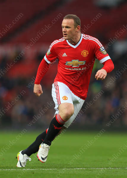 Wayne Rooney in action for Man Utd U21s