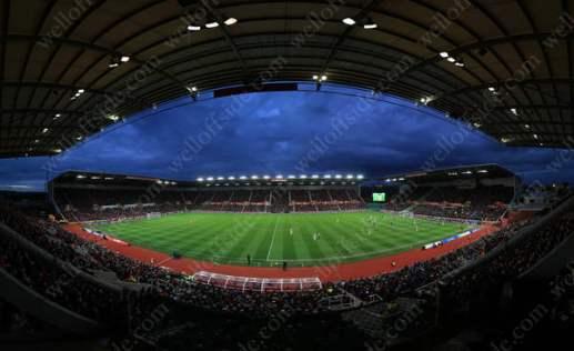 A general view of the Britannia Stadium during Stoke City's match against Tottenham Hotspur