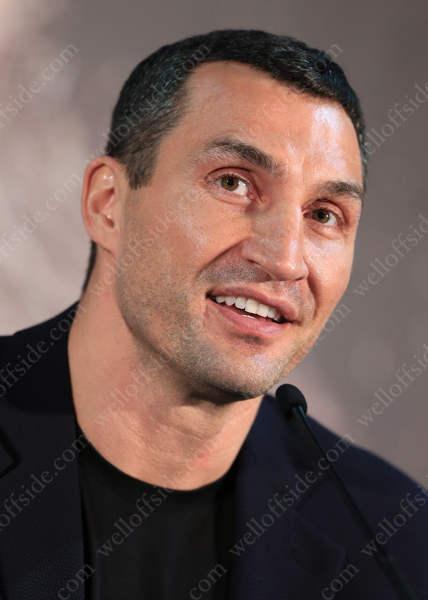 Wladimir Klitschko looks on