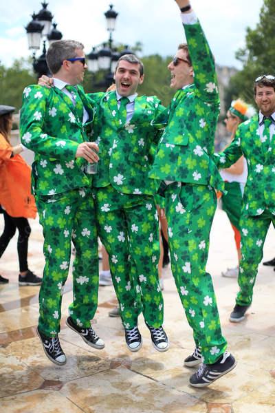 Irish fans in good spirits