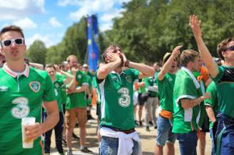 Irish fans rue another missed opportunity during the first half
