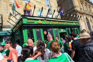Fans spill out of The Connemara Irish Pub