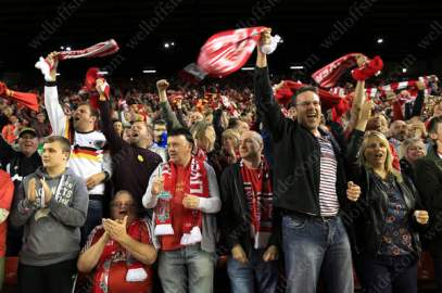 Liverpool fans celebrate victory and progression to another European Final