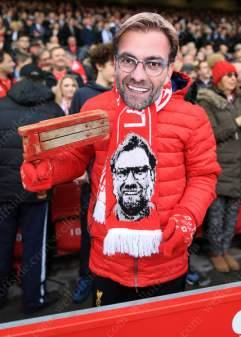 A fan of Liverpool manager Jurgen Klopp