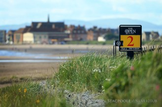 TROON, SCOTLAND - JULY 13: The sign for the 2nd tee seen in front of the beach during the final practice round prior to the 145th Open Championship at Royal Troon Golf Club on 13th July 2016 in Troon, Scotland. Photo by Simon Stacpoole/SilverHub 0203 174 1069 / 07711 972644