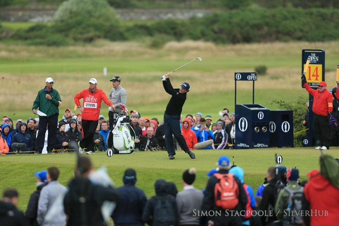 TROON, SCOTLAND - JULY 16: Phil Mickelson (USA) on the 14th tee during the 145th Open Championship at Royal Troon Golf Club on 16th July 2016 in Troon, Scotland. Photo by Simon Stacpoole/SilverHub 0203 174 1069 / 07711 972644