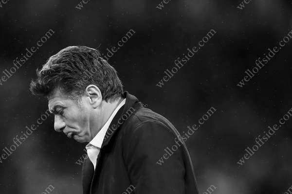 Watford manager Walter Mazzarri looks dejected
