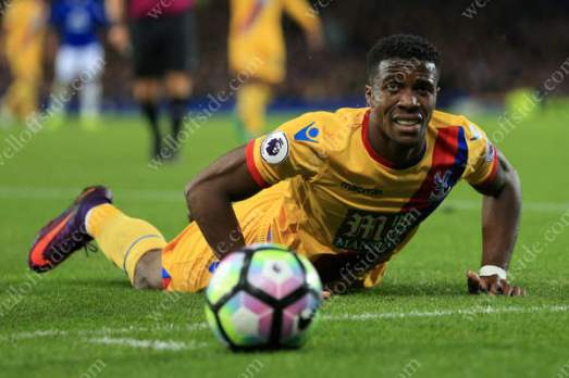 Wilfried Zaha of Palace looks dejected