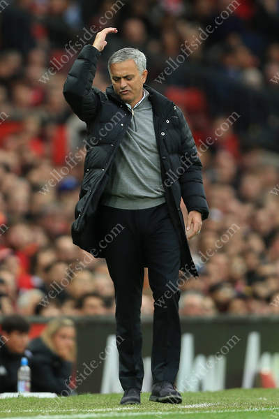 Man Utd's manager Jose Mourinho expresses his disappointment