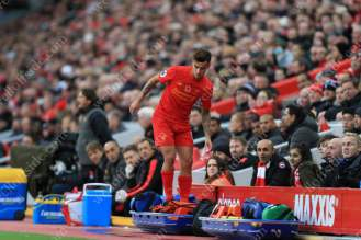 Philippe Coutinho of Liverpool finds himself amongst the medical stretchers
