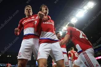 Boro celebrate victory over Man City