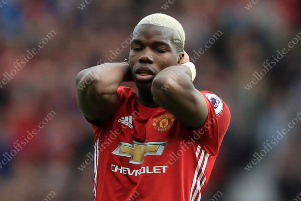 A dejected Paul Pogba