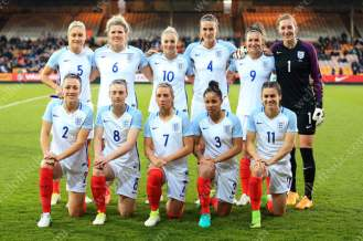 England Women pose for a team group photo