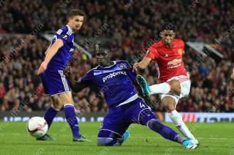 Marcus Rashford of Man Utd scores their 2nd goal against Anderlecht to send his side through to the UEFA Europa League Semi-Final