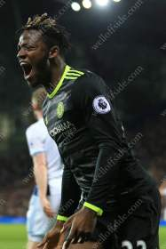 Michy Batshuayi of Chelsea celebrates his late winner