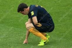 Ryan McGowan of Australia looks dejected
