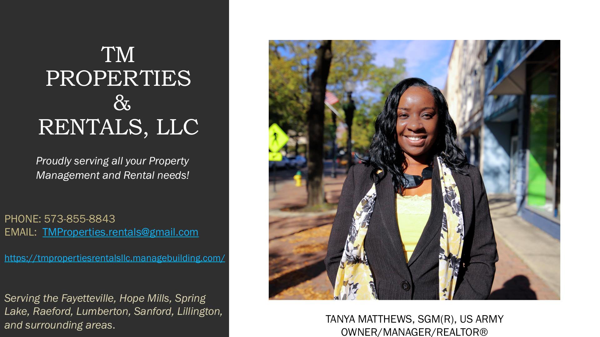 TM Properties & Rentals, LLC