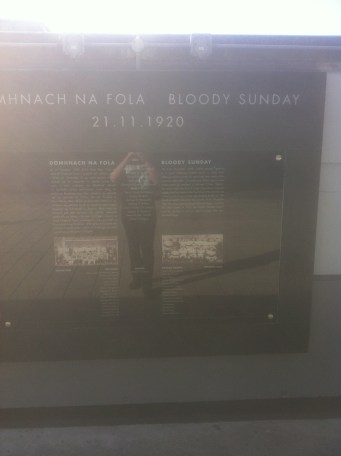 Tribute to those who died on Bloody Sunday