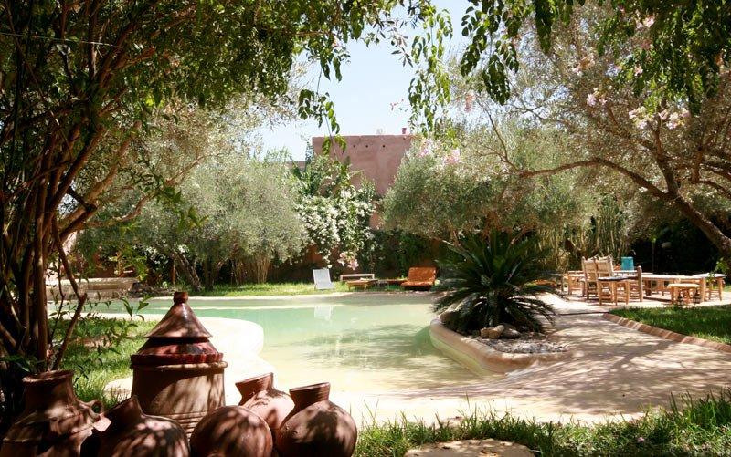 Riad Garden and Swimming Pool - Marrakech, Morocco