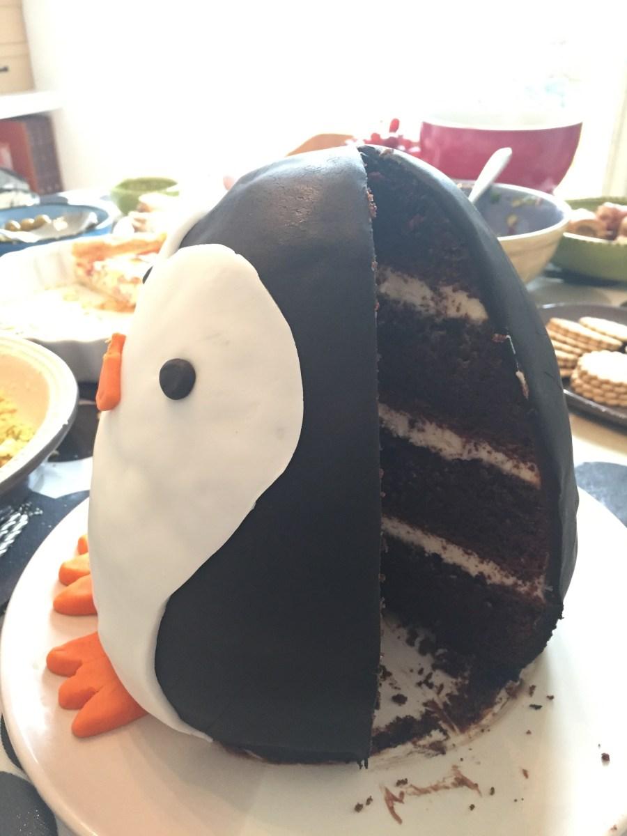 Brilliant Making A Penguin Birthday Cake Simon Wheatley Funny Birthday Cards Online Alyptdamsfinfo