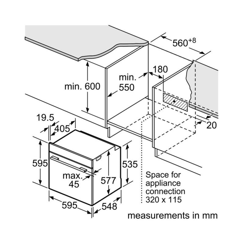 Bosch Built in Oven in Inox Color 71L HBG632BS1| SimosViolaris