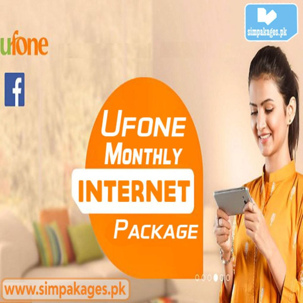 Ufone monthly internet packages