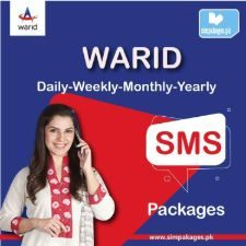 warid daily weekly monthly yearly sms packages