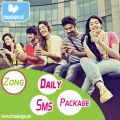 Zong Daily Sms Packages