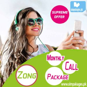 Zong monthly call package