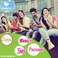 Zong Weekly Sms Packages