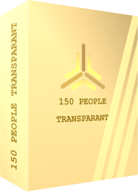 TEMPLATE BOX 3D 150 PEOPLE TRANSPARANT
