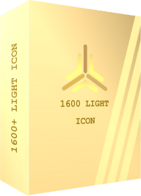 TEMPLATE BOX 3D 1600 LIGHT ICON
