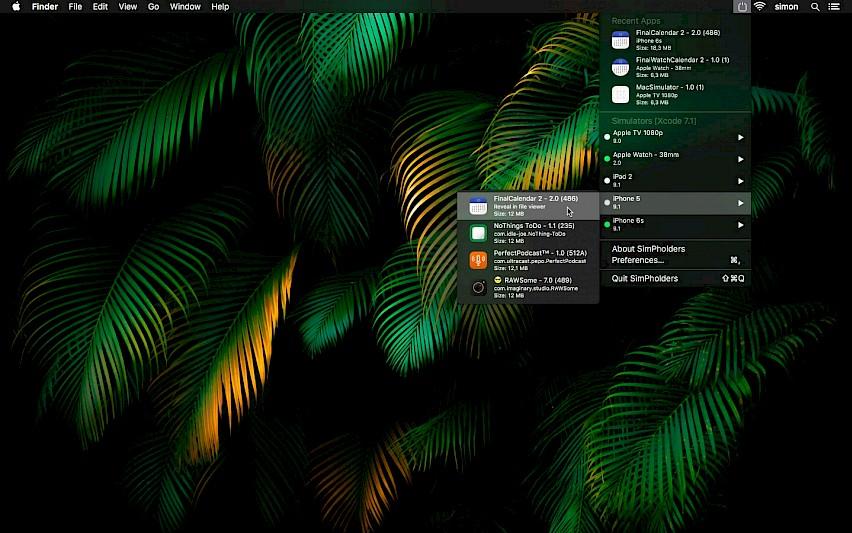 SimPholders Mac 破解版 实用的iPhone模拟器辅助开发工具