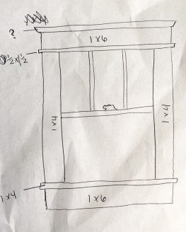 My sketch of our first floor windows to use as reference.