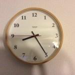 お気に入りの時計は、Lemnos plywood clock。