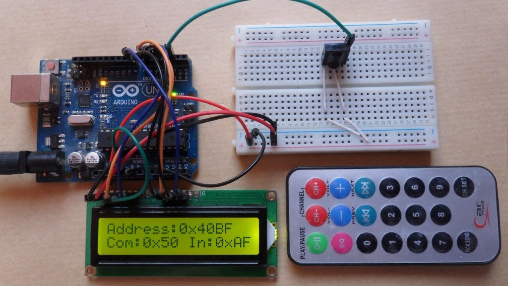 Ir Remote Control Circuit Using Arduino Electronic Circuit Projects