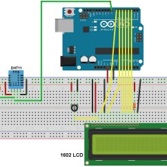 Arduino Lcd Screen Wiring Diagram 03 Focus Belt Interfacing With Dht11 Sensor And Simple Projects Circuit