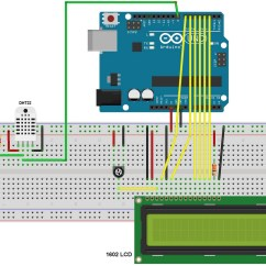 Arduino Lcd Wiring Diagram Of Car Air Conditioner With Dht22 Sensor And Simple Projects