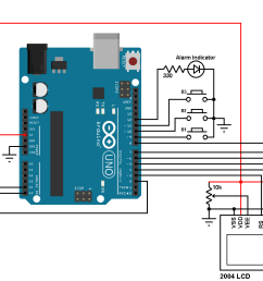 arduino ds3231 real time clock set buttons alarm temperature [ 1330 x 818 Pixel ]