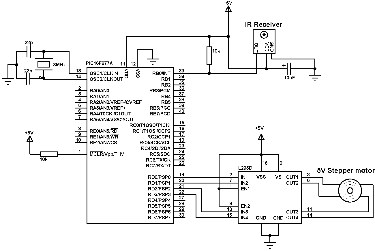 Simple Servo Motor Controller Schematic