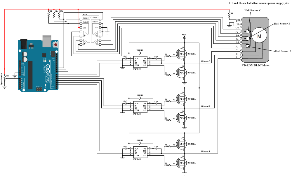 medium resolution of sensored brushless dc motor control with arduino simple projects 3 phase vfd circuit diagram 3 phase