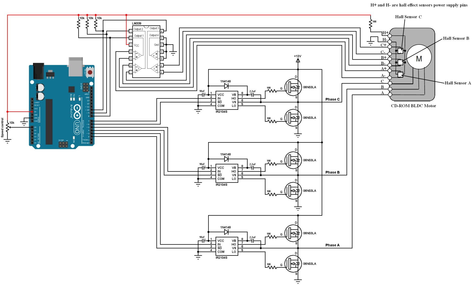 hight resolution of sensored brushless dc motor control with arduino simple projects bldc 8 best images of 3 phase motor control circuit diagram 3 phase