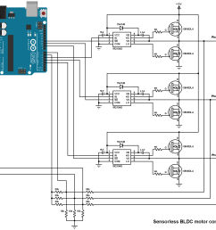 sensorless bldc motor control with arduino diy esc simple projects bldc 8 best images of 3 phase motor control circuit diagram 3 phase [ 2250 x 1555 Pixel ]