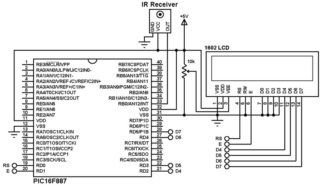 simple ir remote control circuit diagram
