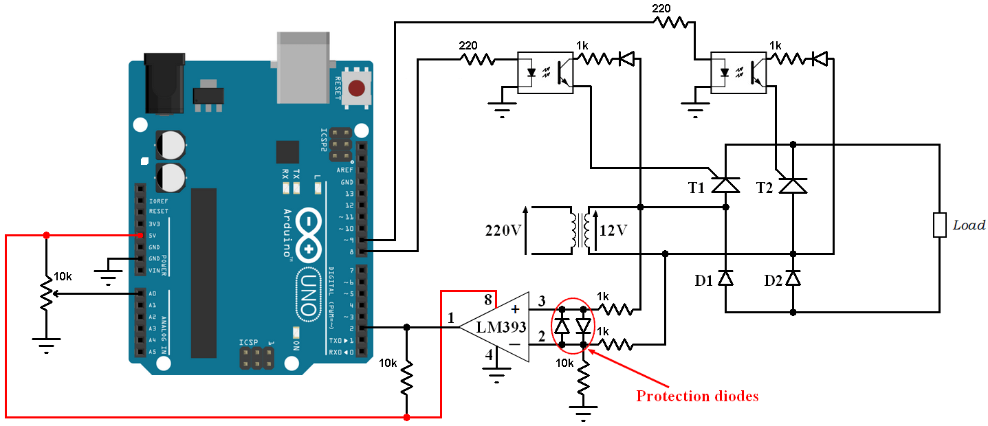 hight resolution of arduino controlled bridge rectifier with thyristors