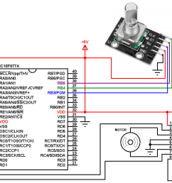 pic16f877a rotary encoder dc motor controller circuit [ 1262 x 760 Pixel ]