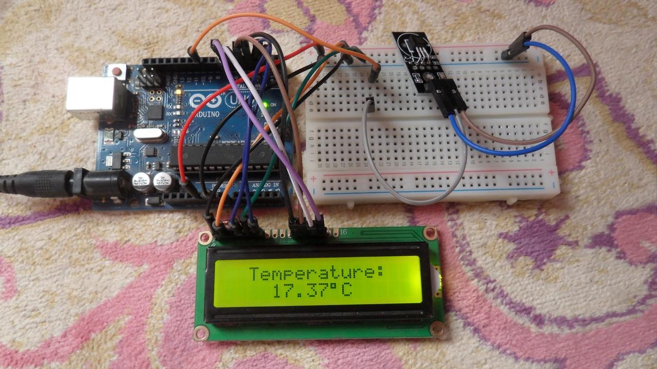 Temperature Sensor Circuit Using 1n4148 Diode Diagram