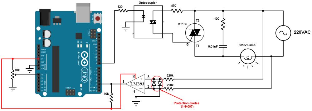 medium resolution of arduino light dimmer circuit