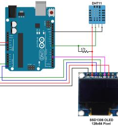 arduino ssd1306 dht11 sensor [ 945 x 900 Pixel ]